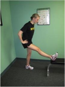 Standing Toe Raised Hamstring Stretch